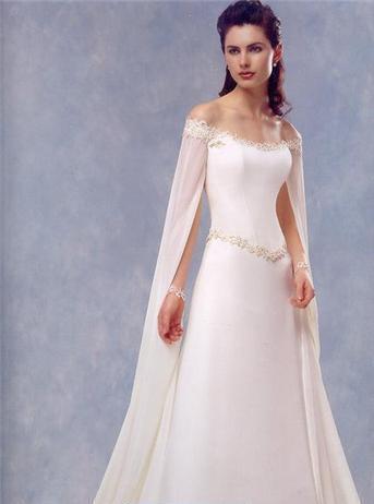 Vestido de novia inspiracion medieval
