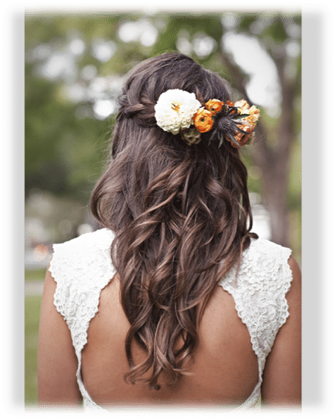 Peinados de novia con flores Lo ms chic La Perfecta Prometida