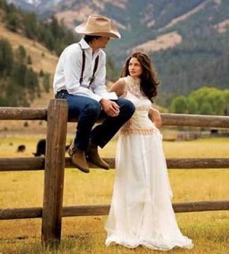 vaqueros novio boda vaquera