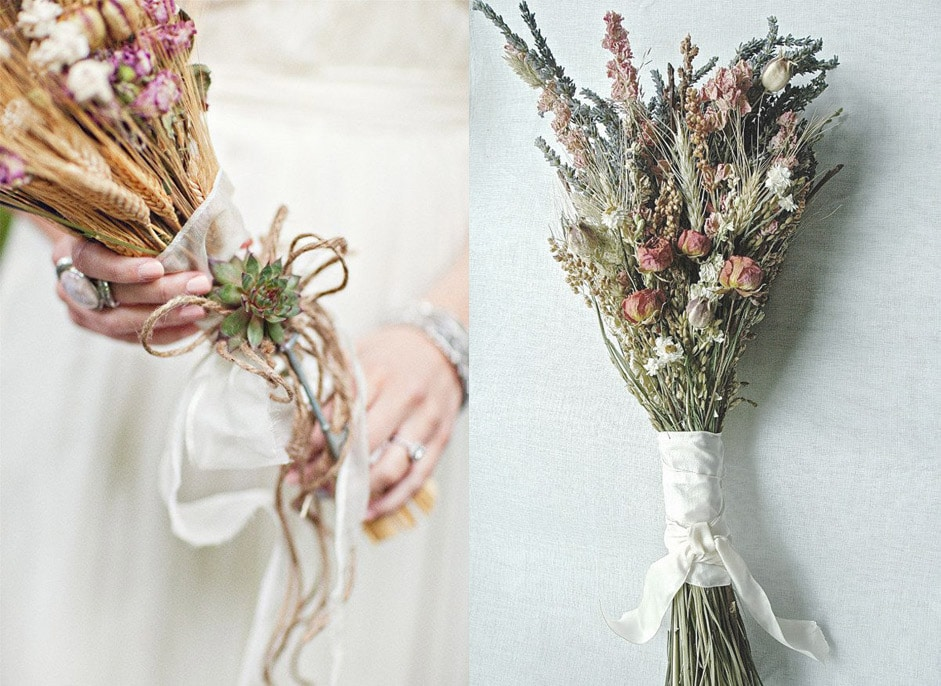 La perfecta prometida flores para tu boda vaquera la - Adornos flores secas ...