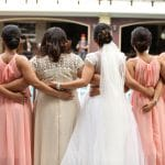 Las damas de honor en la boda