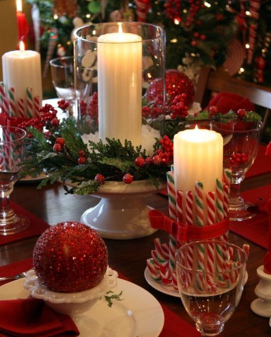 Bodas tem ticas detalles para una boda en navidad la - Como decorar centros de mesa para navidad ...