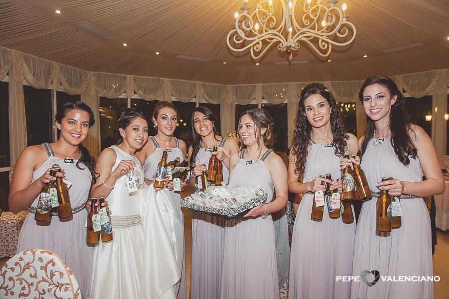 Las damas de honor en la boda