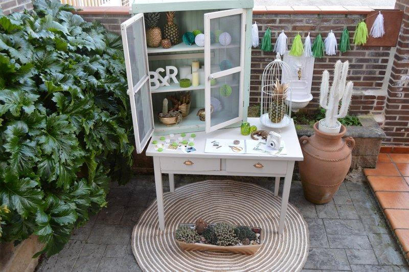 mueble inspiración tropical