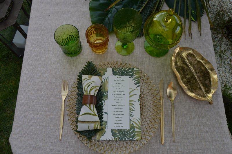 mesa boda inspiración tropical
