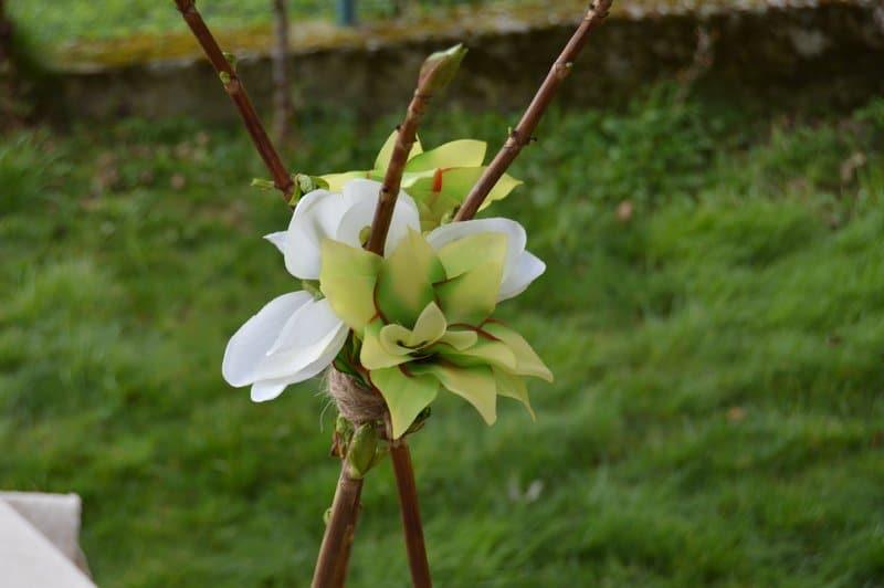 inspiración tropical boda flores
