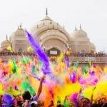 El Festival Holi, una boda llena de color